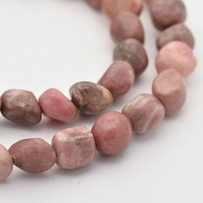 1strand Natural Rhodonite Bead RosyBrown Gemstone Round Loose Beads 15.7""