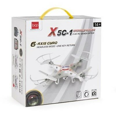 RC 6-Axis Quadcopter Flying Drone Toy With Gyro and Camera Remote Control LED!