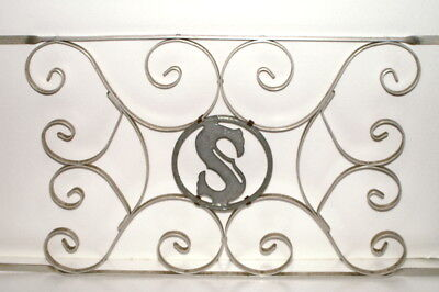 """Letter S Vintage Aluminum Scrolled Screen Door Grill Guard Protector 32""""  x 16"""""""