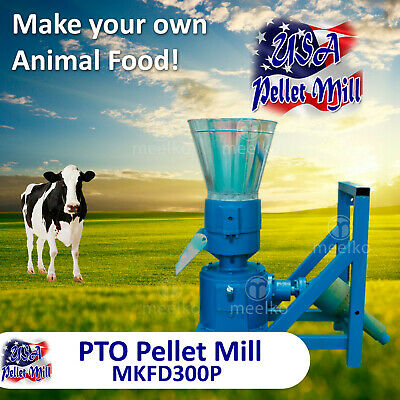 PTO Pellet Mill For Cow's Food - MKFD300P - Free Shipping