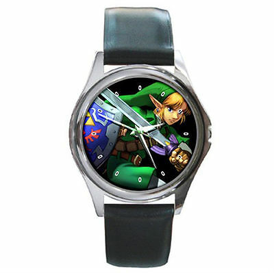 The Legend of Zelda ultimate Link and shield sword leather watch