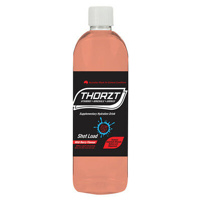 THORZT Shot-Load (Concentrate Syrup) 600mL Electrolyte Drink Mix - Makes 20L,