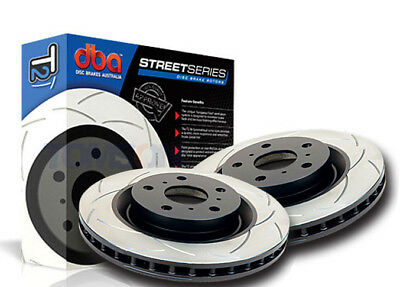 DBA T2 Pair of Slotted Front Rotors Mitsubishi Pajero 96-> 314mm DBA237S x2