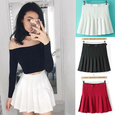 US Fashion Women Tennis Sexy Pleated Mini Skirt School Girl Skater Skirt Shorts