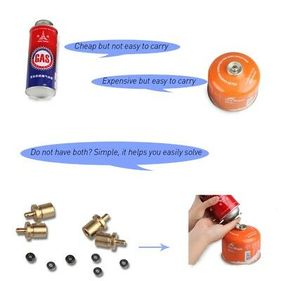 Gas Refill Adapter Outdoor Camping Hiking Cylinder Butane Canister Tank Gas Burn