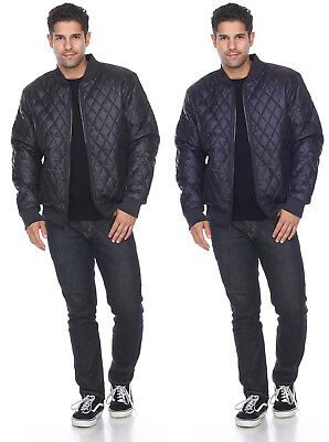 Mens Quilted Puffer Jackets Winter Outerwear Bubble Zip Up Coat