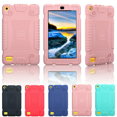 For Amazon Kindle Fire 7 2017 7th Gen Kids Safe Shockproof Silicone Case Cover