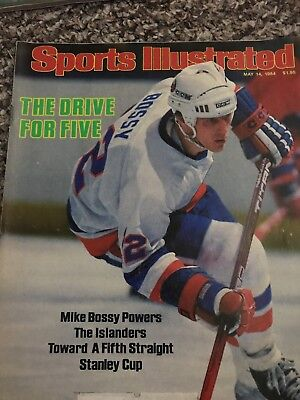 Sports Illustrated Magazine May 14, 1984 Mike Bossey Powers The NY Islanders