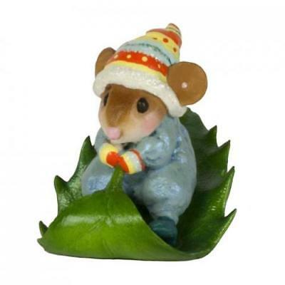 HOLLY EXPRESS by Wee Forest Folk, WFF# M-629, BLUE, New Christmas Mouse 2017