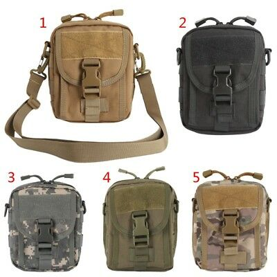 Tactical Molle Utility Pouch Belt Waist Bag Sports Hunting Military Shoulder Bag