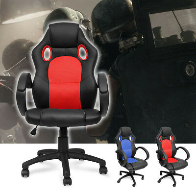 New PU Leather High Back Bucket Seat Office Gaming Chair Swivel Computer Chair