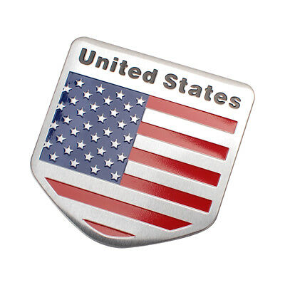 Decal Metal Emblem Badge Car Auto Fender Side Skirt Sticker USA American Flag