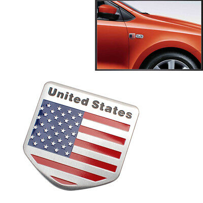 USA AMERICAN FLAG Sticker Decals Emblems for Jeep SUV Car Patriotic Shield Shape
