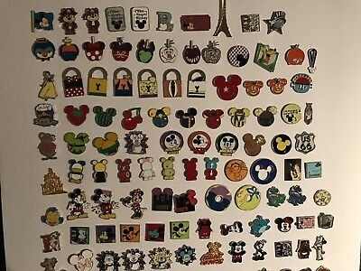 Disney Pin Trading Lot of 50 Assorted Pins - No Doubles - Tradable
