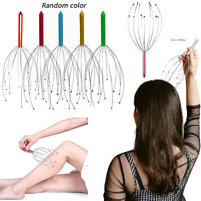 Hand Therapy Massager LOT Scalp Stress Spider NEW Color Head Held322946575053