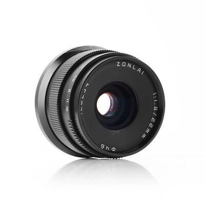 Zonlai 22mm F1.8 Large Aperture Ultra Wide Angle Lens for Fuji X-mount APS-C
