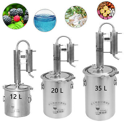 12~35 L Moonshine Still Home DIY Distiller Whisky Wine Water Beer Oil Brew Kits
