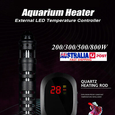 200-800W Digital Aquarium Heater Fish Tank Submersible Adjustable Thermostat