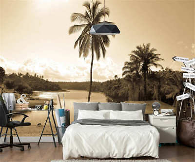 Coconut Trees At Dusk Full Wall Mural Photo Wallpaper Printing 3D Decor Kid Home