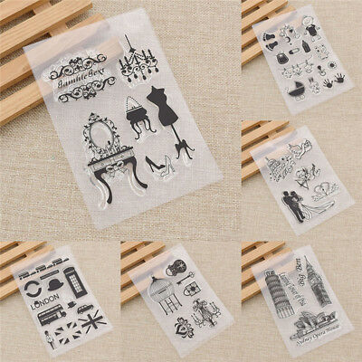 Transparent Clear Silicone Stamp Embossing DIY Crafts Decoration Creative Gift