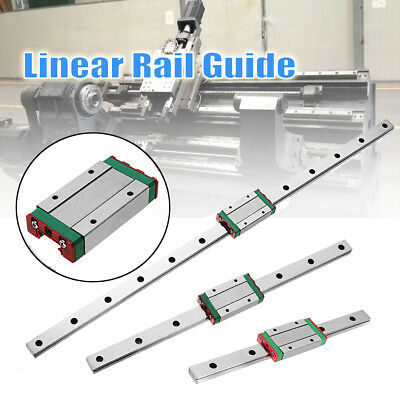 500/300/200mm MGN15 Linear Motion Slider Sliding Miniature Guide Rail + Block