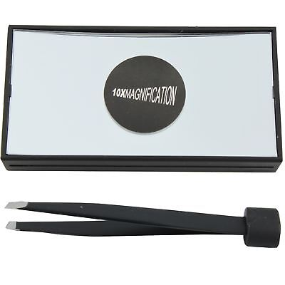 Technic Magnifying Mirror X 10 & Precision Tweezers Travel Set Brow Buster