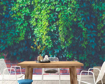 Bright Green Leaves Full Wall Mural Photo Wallpaper Printing 3D Decor Kid Home