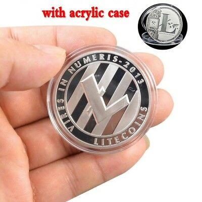 1x Silver Plated Commemorative Litecoin Collectible Golden Iron Miner Coin Gift