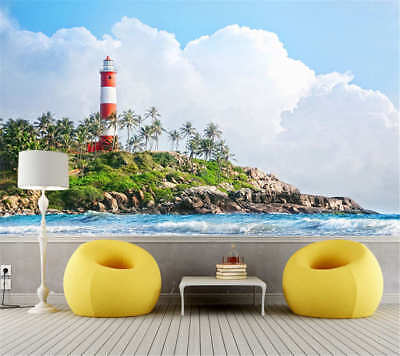 Vibrant Coconut Palms Full Wall Mural Photo Wallpaper Printing 3D Decor Kid Home
