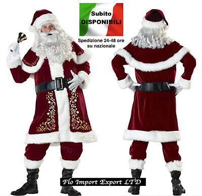 Vestito Costume Babbo Natale Cosplay Santa Claus Christmas Suit SANTC04