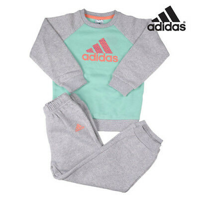 girls adidas sweatshirt and joggers top and pants toddler kids 6 - 9 months