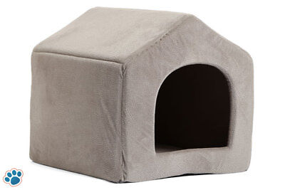 Pet Dog Cat Dome Bed Kitten Cave Cuby Basket Sofa Crate Kennel Rabbit Pup Medium