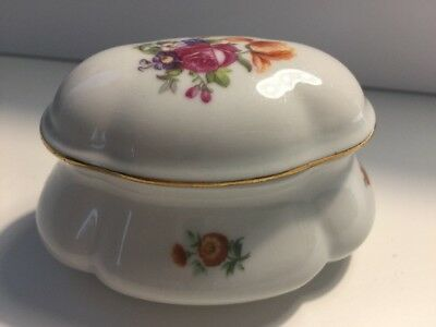 Vintage Rare ♚ Porcelain China Trinket Box From GDR 1877 with Number 343
