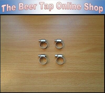 """Stainless Steel 8-12mm Jubilee Clip - Hose Clamp. Fits 3/8"""" Beer & Gas Line/Pipe"""
