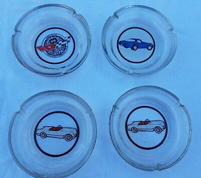 Lot Of (4) Vintage Collectible Chevrolet Corvette Chevy Vette Ash Trays New