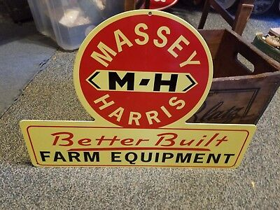 MASSEY HARRIS Farm Equipment  Metal Sign Porcelain Style Tractor plow Ferguson