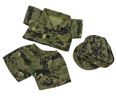 "TEDDY BEAR ARMY DIGITAL CAMO w/CAP Outfit CLOTHES Fit 8""-10"" Build-a-bear !NEW!"