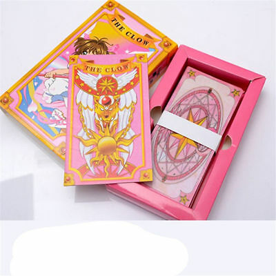 Anime 52 PCS Cardcaptor Sakura Cards With Pink Clow Magic Book Toy Collection