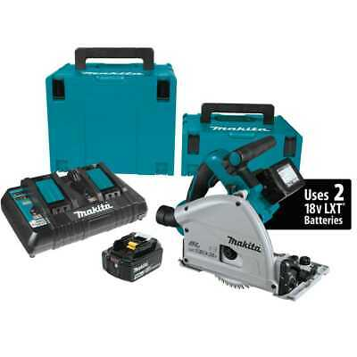 "Makita XPS01PTJ 18V X2 LXT 36V Cordless 6-1/2"" Plunge Circular Track Saw Kit New"