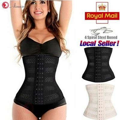 UK Long Torso Waist Trainer Corset Cincher Body Shaper Belt for Women Workout