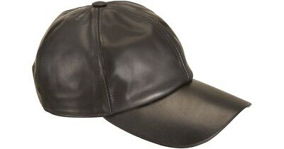 Brand New Genuine Sheep Leather Baseball Cap Adjustable