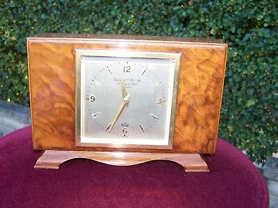 Elliott Mantle Clock Retailed by Garrards of London