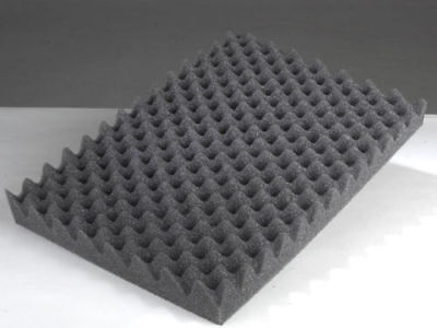 2 PK Egg Crate Soundproofing Acoustic Wedge Foam Tiles Wall Panels 1.5 x 24 x 36