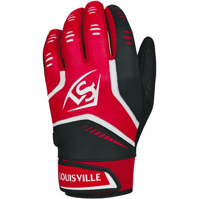 Louisville Slugger Adult Omaha Batting Gloves - Scarlet