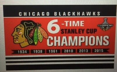 69746724036 Chicago Blackhawks Stanley Cup Champions Flag 3ft x 5ft Polyester NHL Banner
