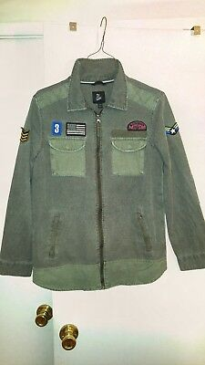 NEW Boys' Military Jacket T-Shirt - Art Class  Green Large