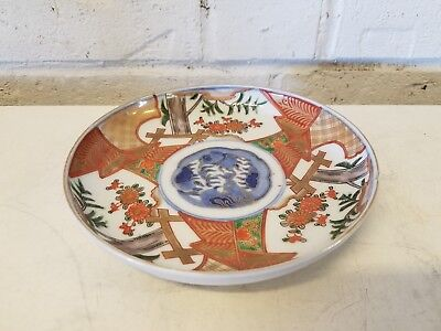 Antique Arita Fu Ku Edo Period Imari Porcelain Bowl