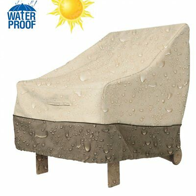 US Waterproof Outdoor High Back Patio Single Chair Cover Protection Furniture VP