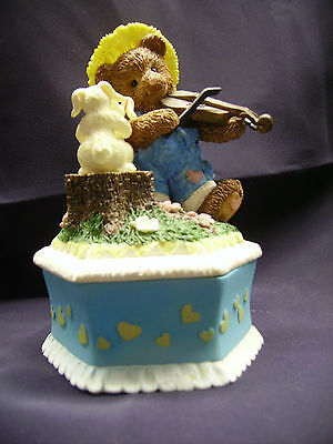 HERITAGE HOUSE~PLAYFUL TEDDY BEARS~COUNTRY FRIENDS~MUSIC BOX *Love Story*