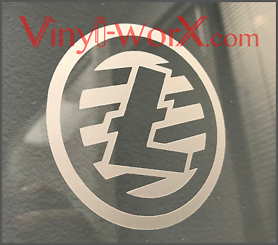 TWO-Pack Litecoin LTC Coin Decal Sticker Blockchain cryptocurrency crypto gifts